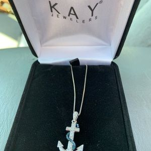 Kay jewelers anchor necklace.